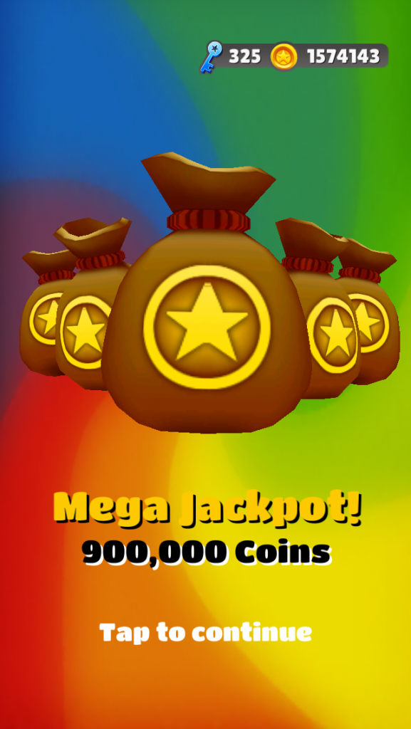 subway surfers mega jackpot