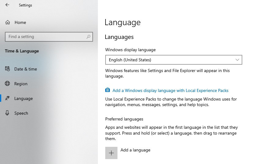 Add language in Microsoft word