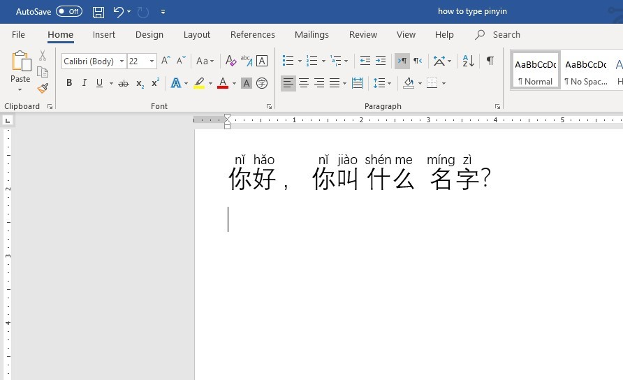 Type pinyin in Microsoft windows 10